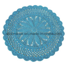Factory OEM Round Hand  Crochet Baby Rug Blanket Home Decoration